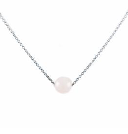 Karma Necklace Rose-Quartz nb silver