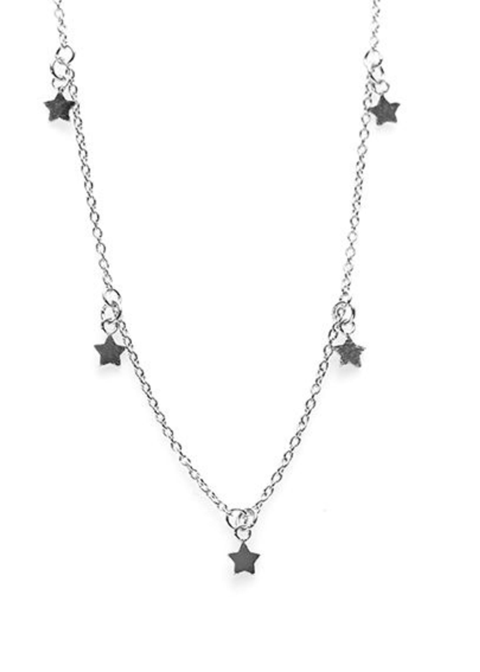 Karma Necklace 5 Stars Silver