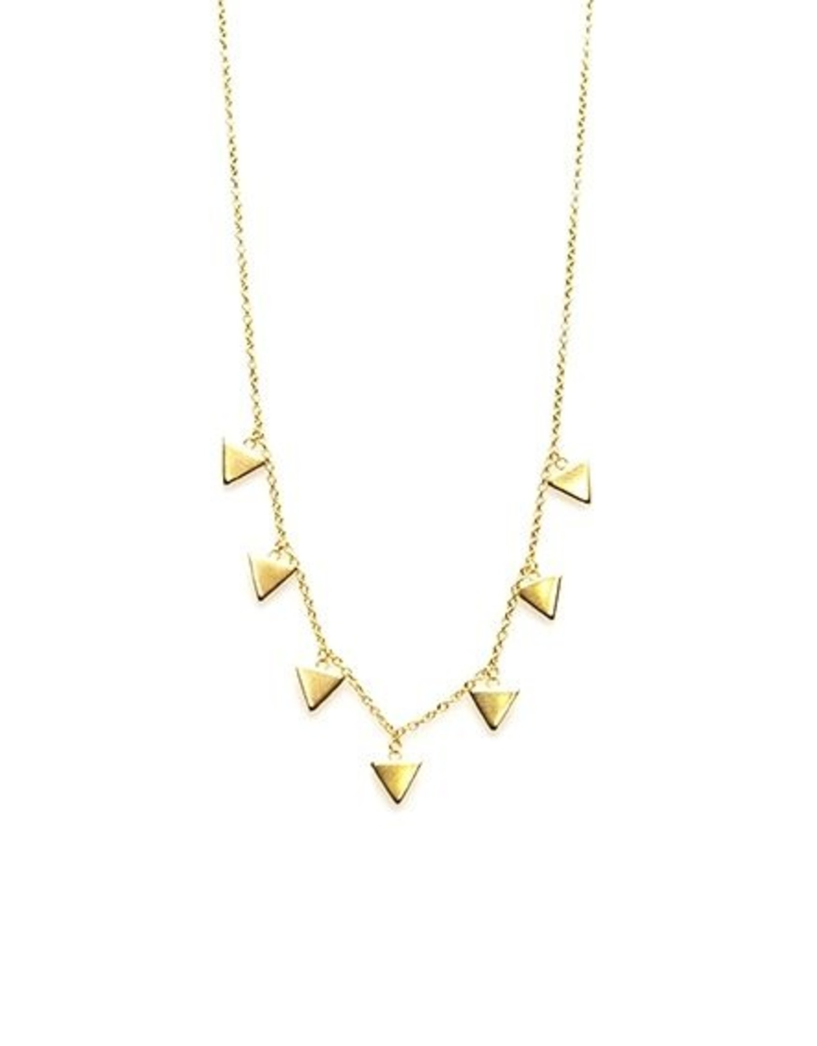 Karma Necklace 7 Triangles Goldplated
