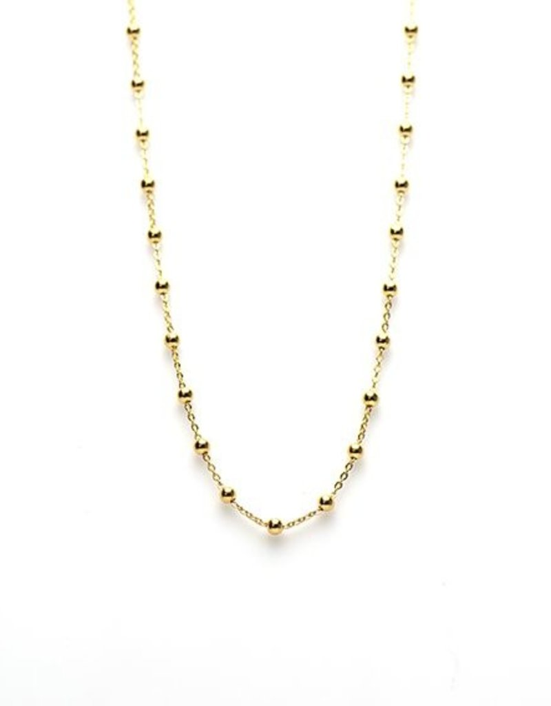 Karma Necklace Dots Goldplated