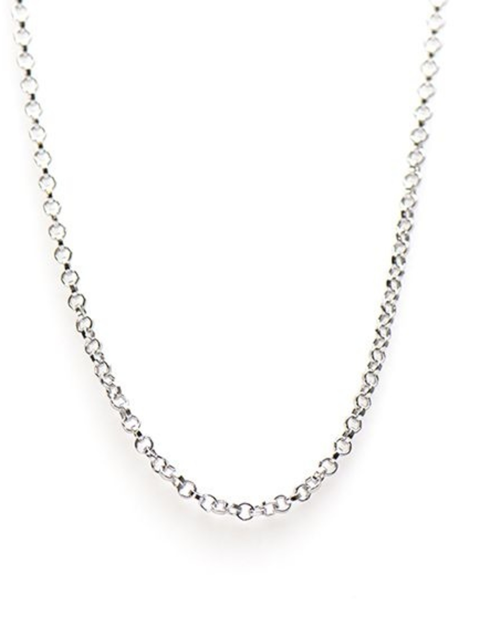 Karma Necklace Round Chain Silver