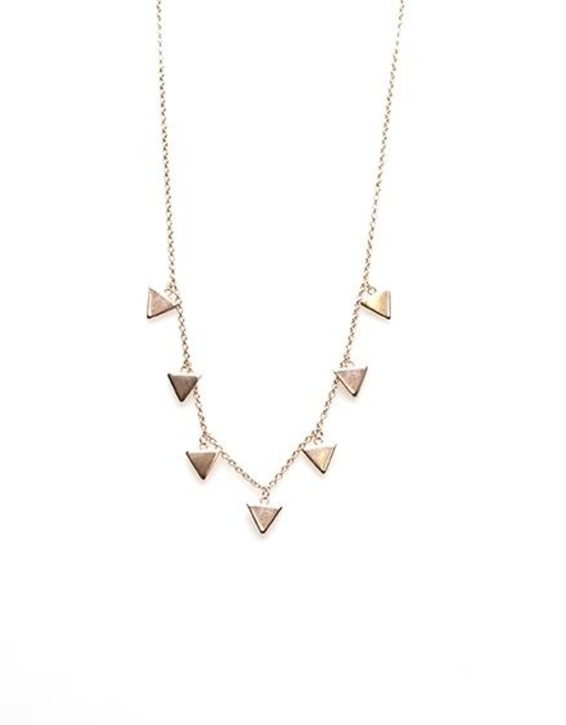 Karma Necklace 7 Triangles Roseplated