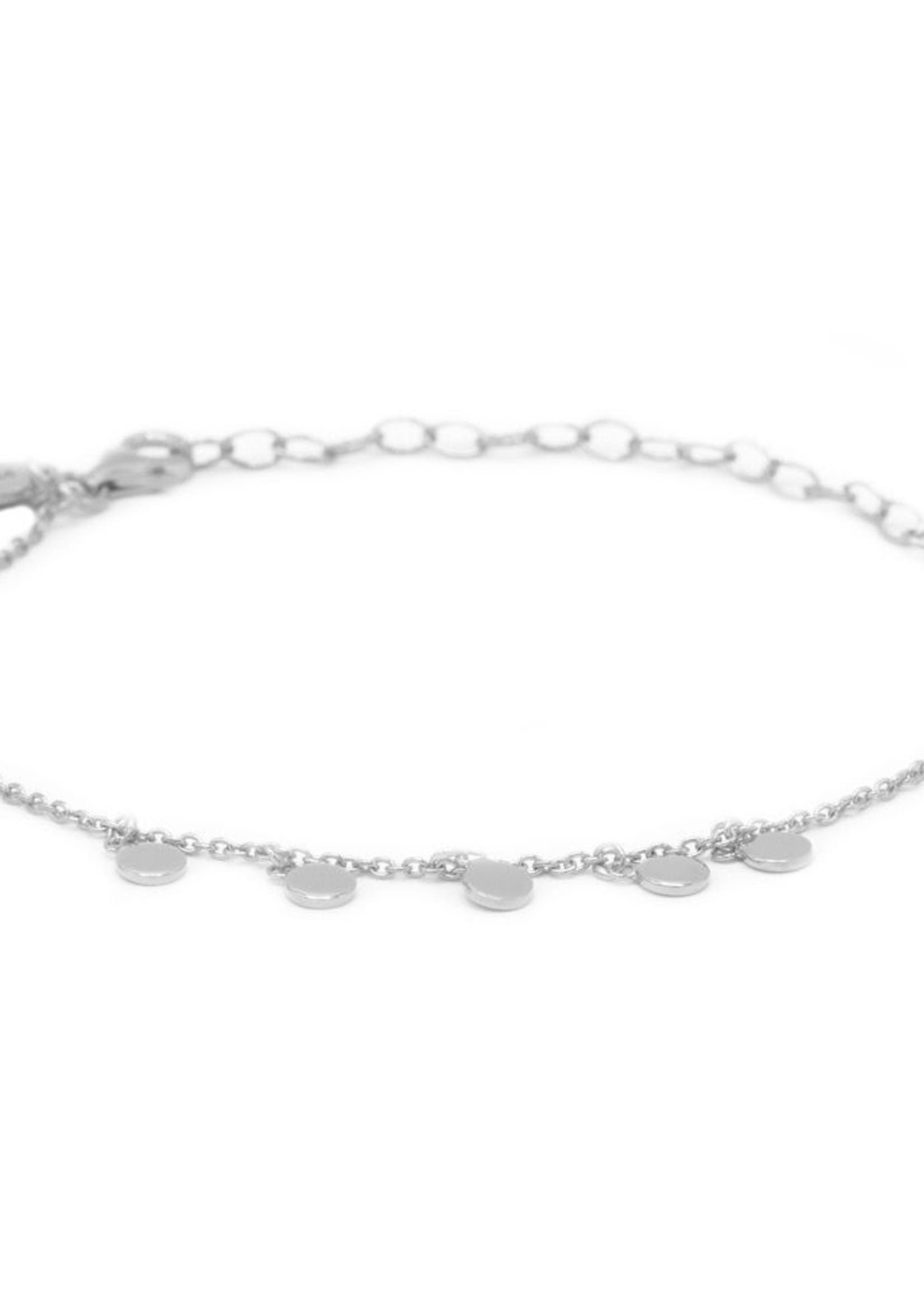 Karma Bracelet 5 Discus Silver