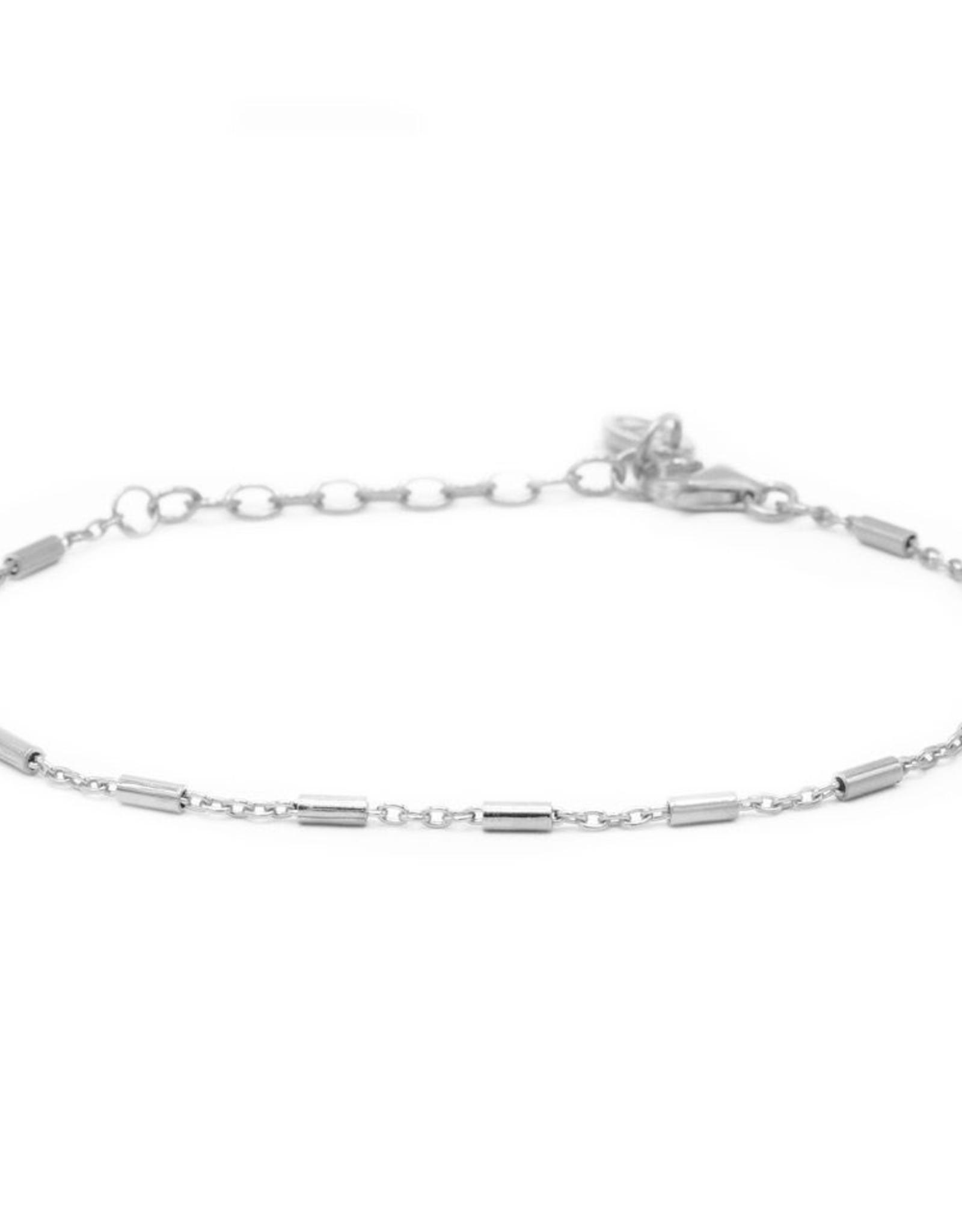 Karma Bracelet Tubes Silver