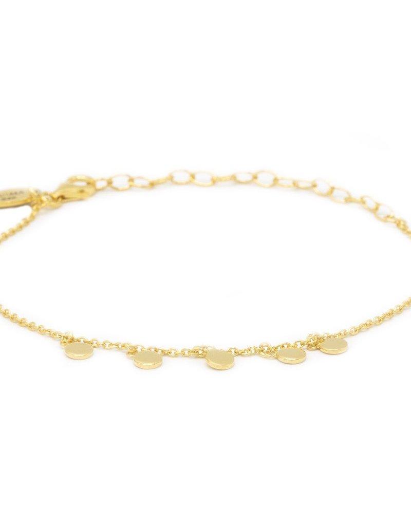 Karma Bracelet 5 Discus Goldplated