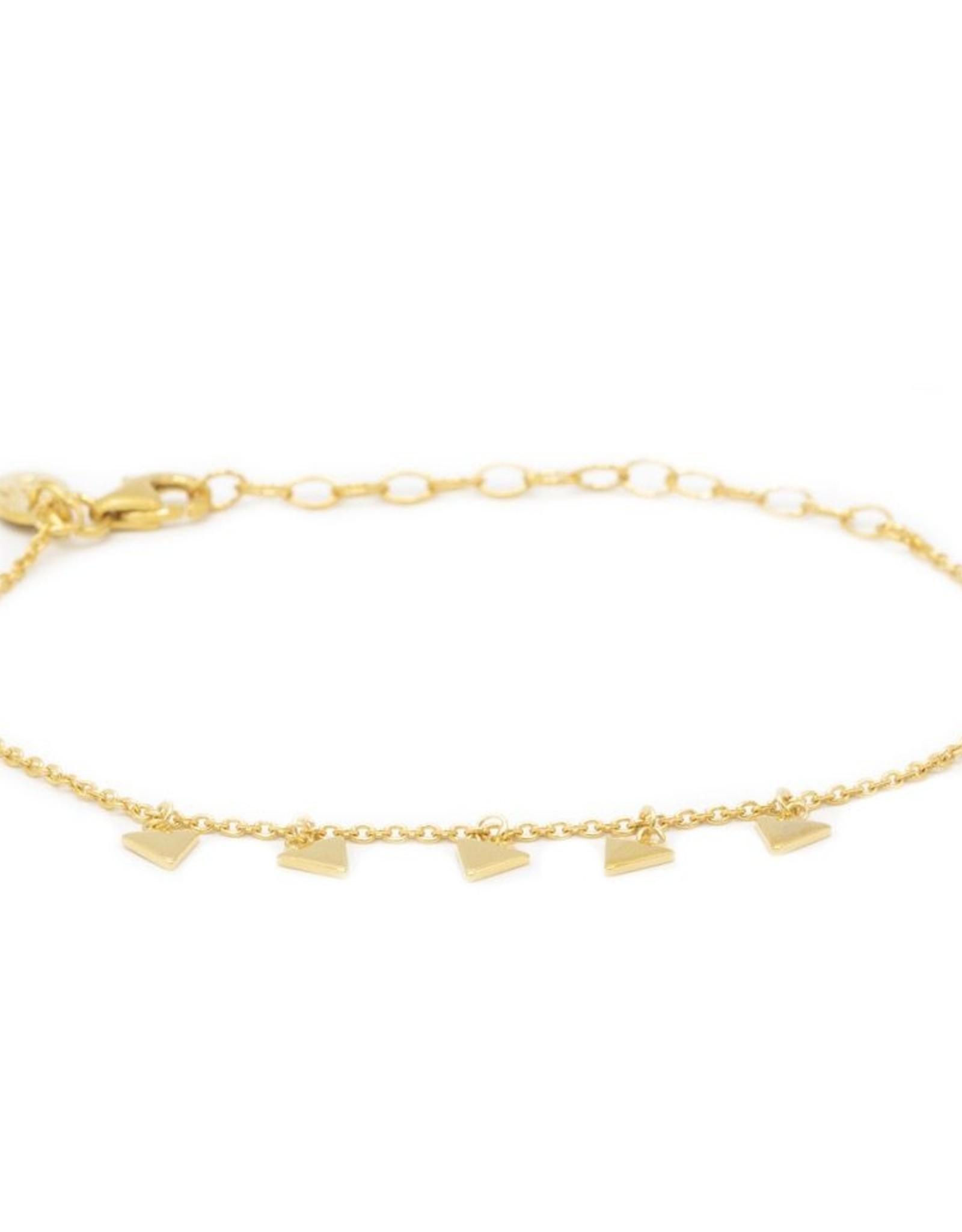 Karma Bracelet 5 Triangles Goldplated