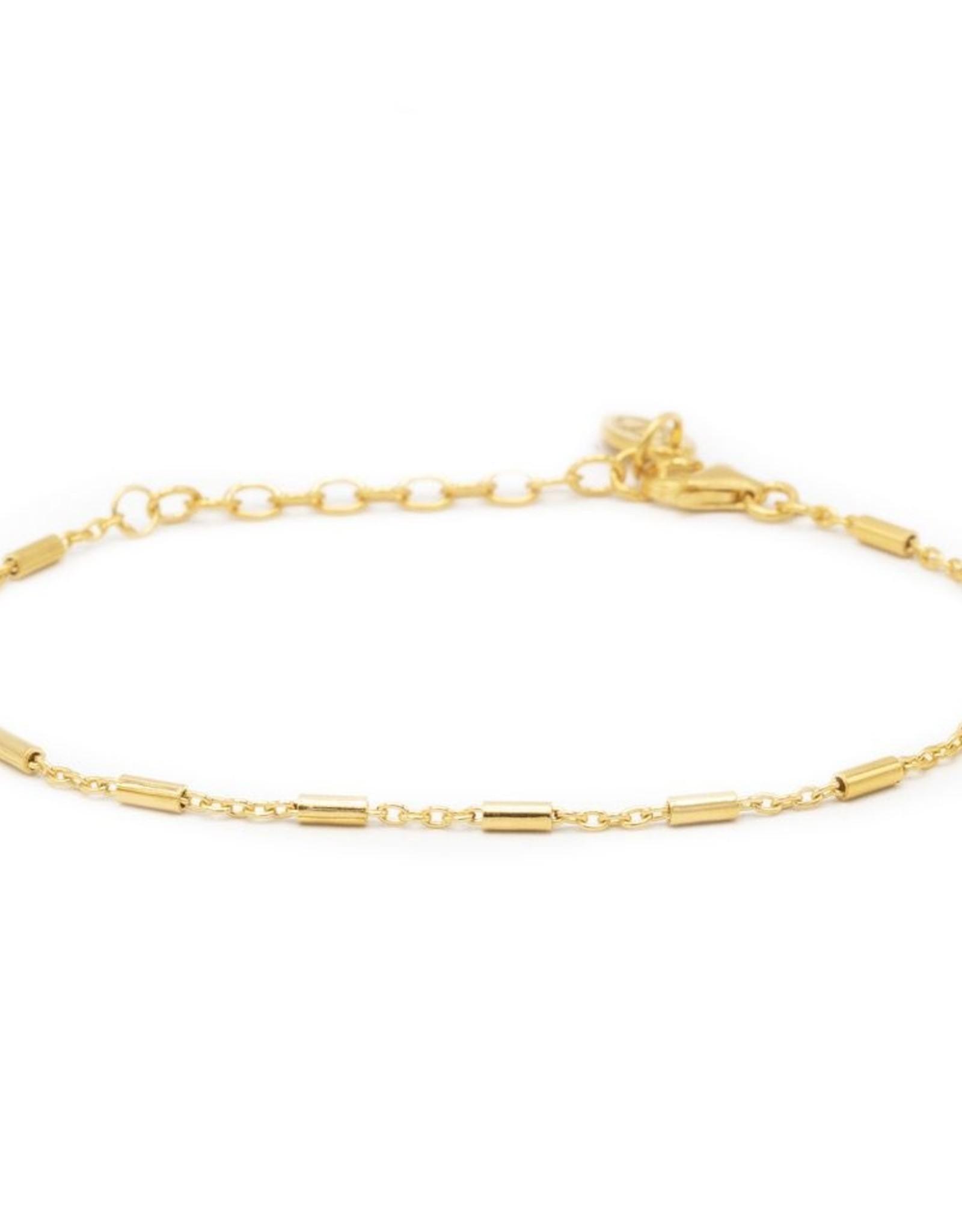 Karma Bracelet Tubes Goldplated