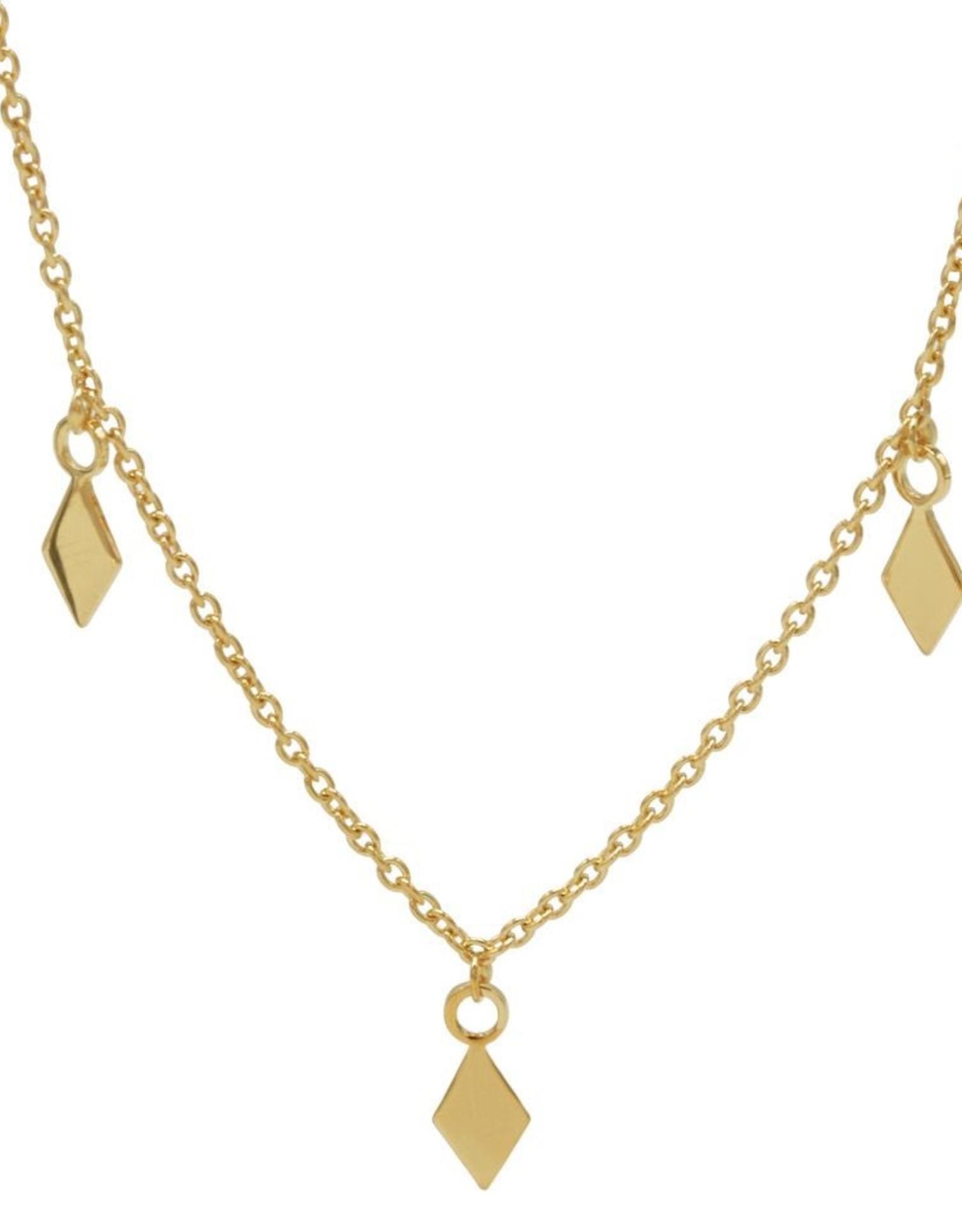 Karma Necklace 3 Diamonds Goldplated