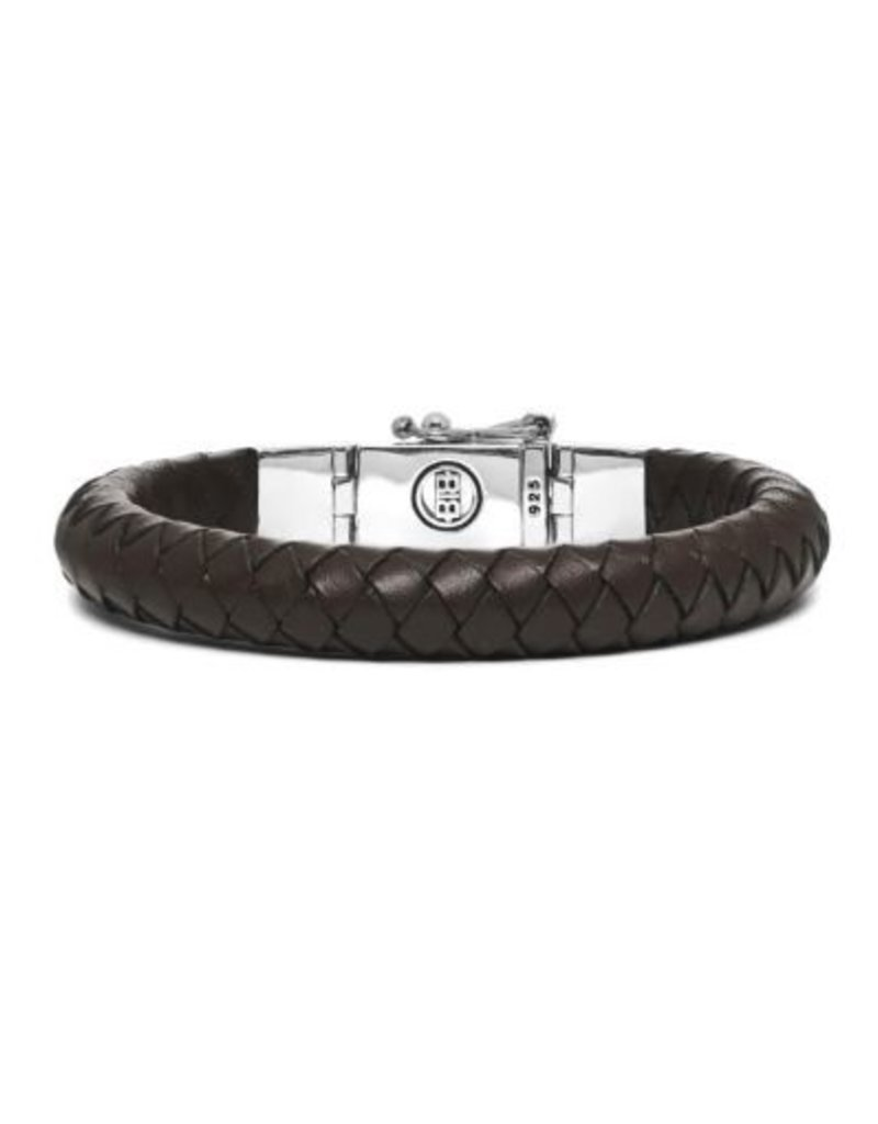 Buddha to Buddha 186Br Essential Leather Smooth Brown Armband 23 Cm