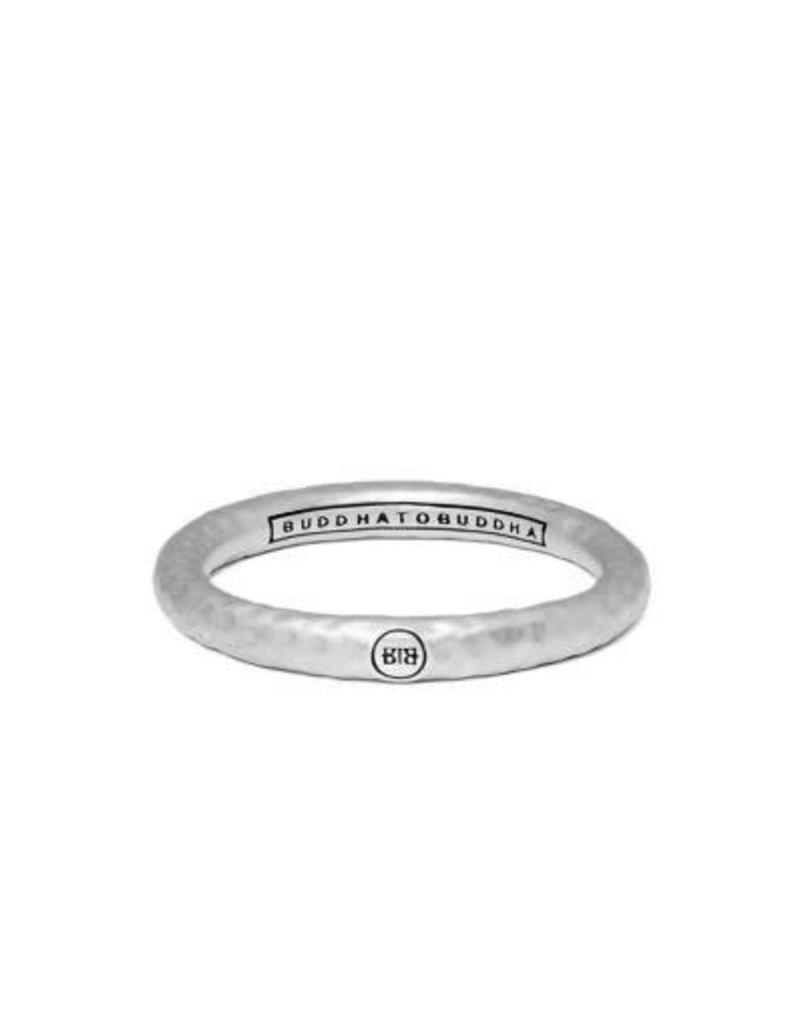 Buddha to Buddha 925 Sterling Zilveren 324 Dunia Hammered Matt Ring