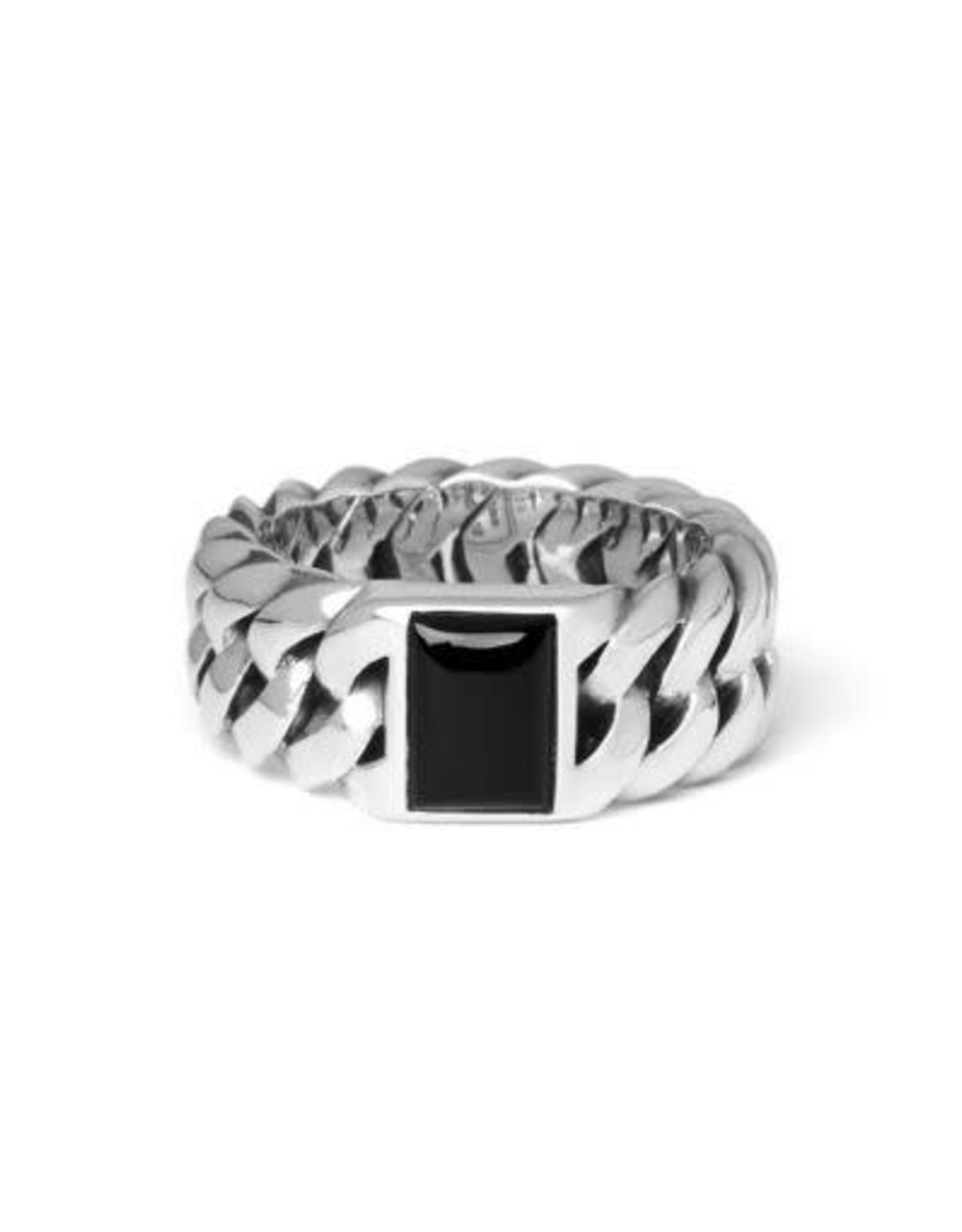 Buddha to Buddha 925 Sterling Zilveren 603ON Chain Stone Onyx Ring