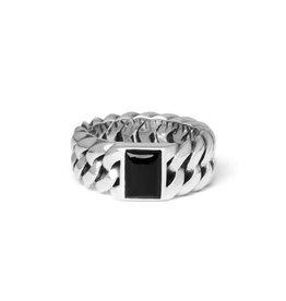 Buddha to Buddha 925 Sterling Zilveren 603ON Chain Stone Onyx Ring