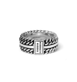 Buddha to Buddha 925 Sterling Zilveren 788 chain texture ring