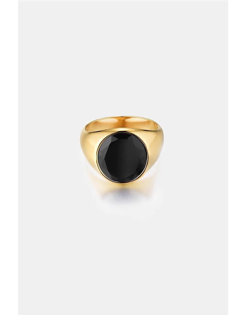 Northern Legacy oval black onyx gold
