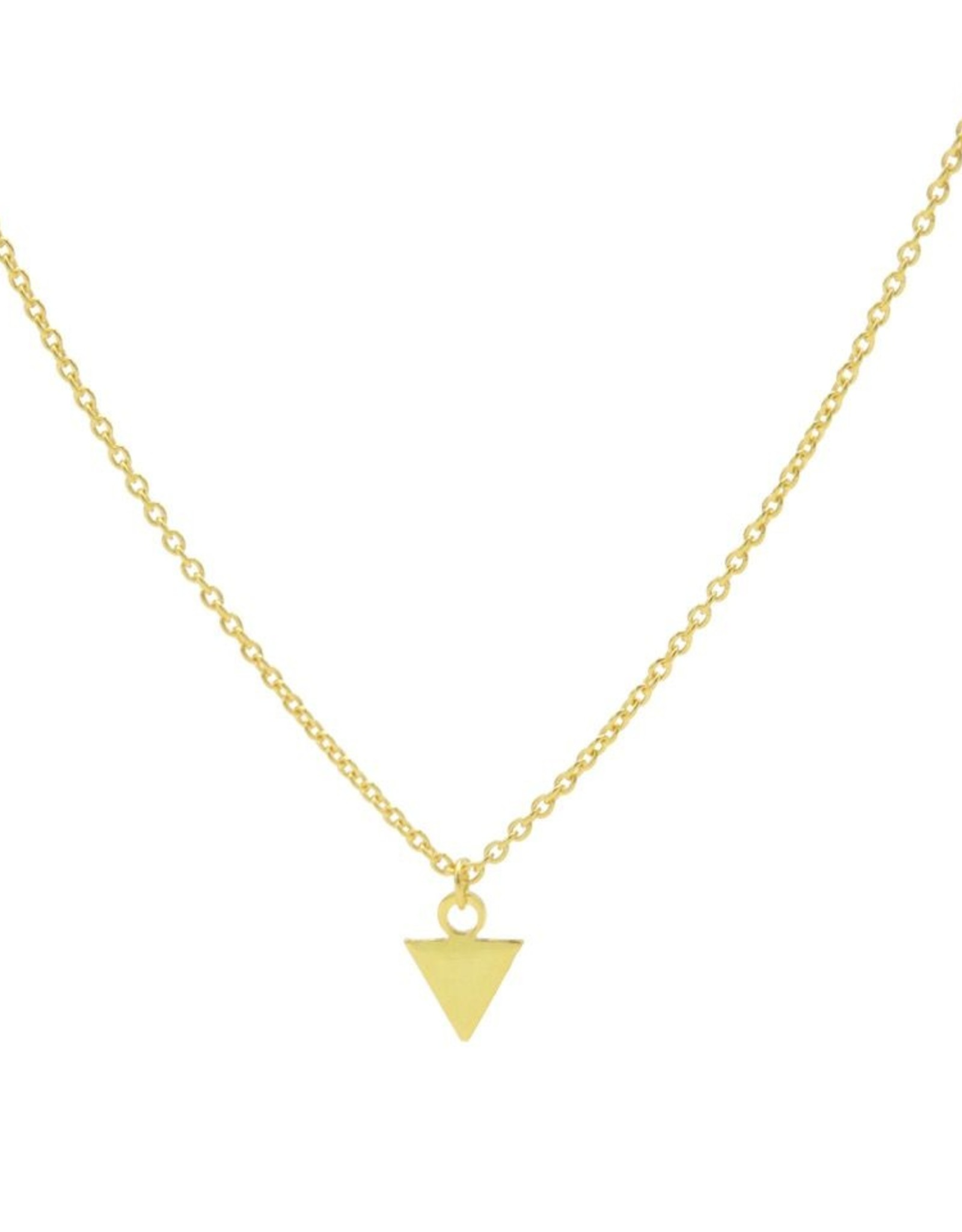 Karma Necklace Triangle Goldplated