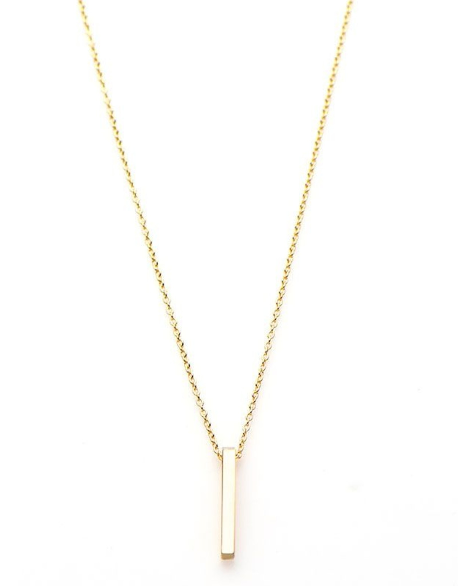 Karma Necklace Tube Vertical Goldplated