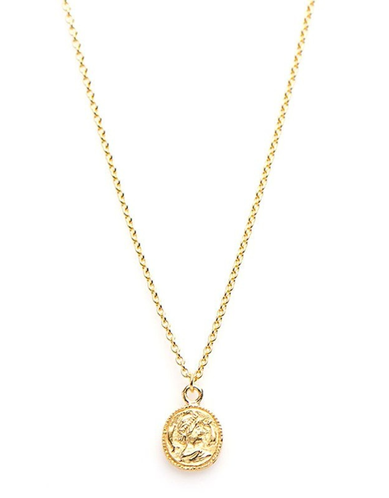 Karma Necklace Coin Goldplated