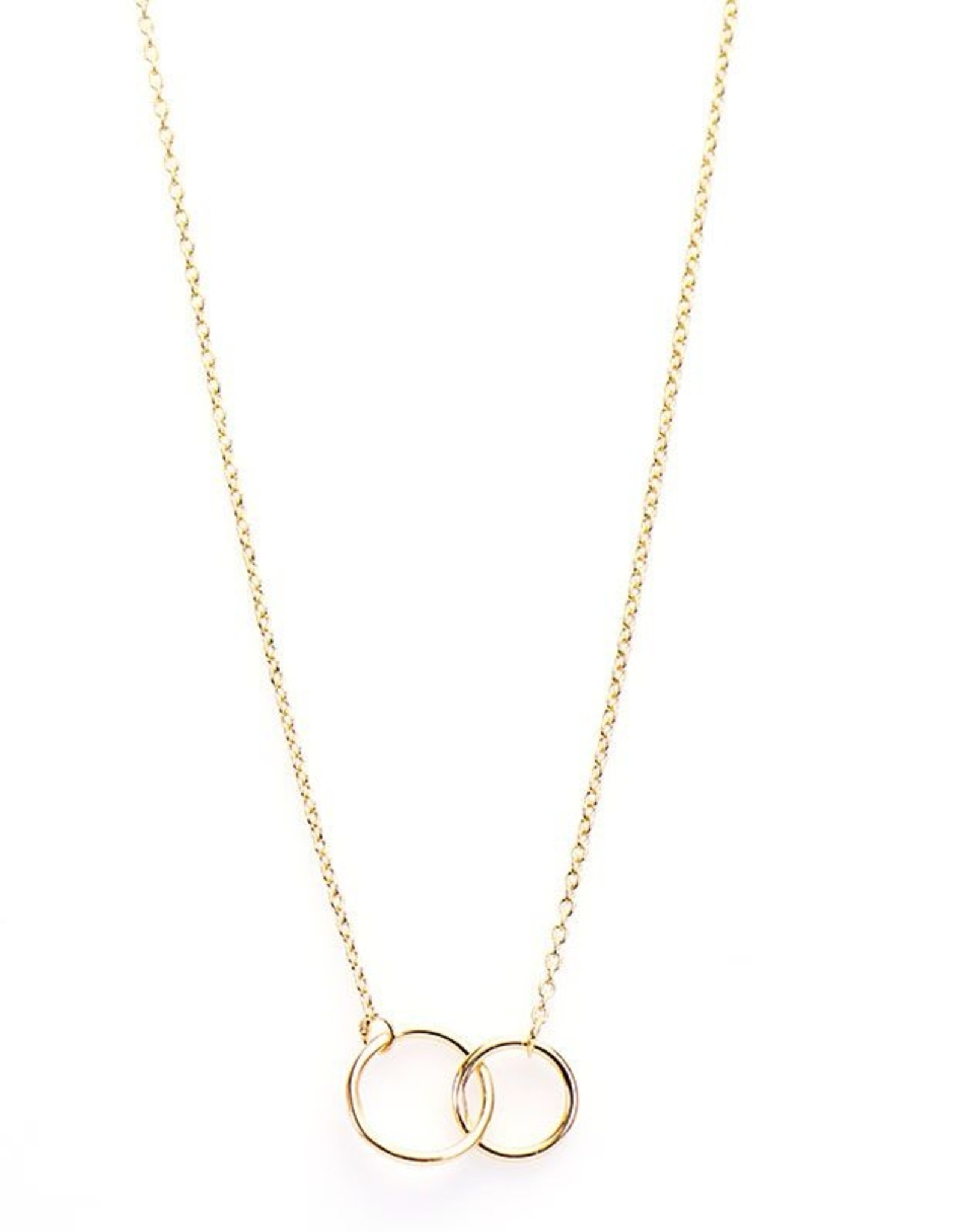 Karma Necklace Double Circle Goldplated