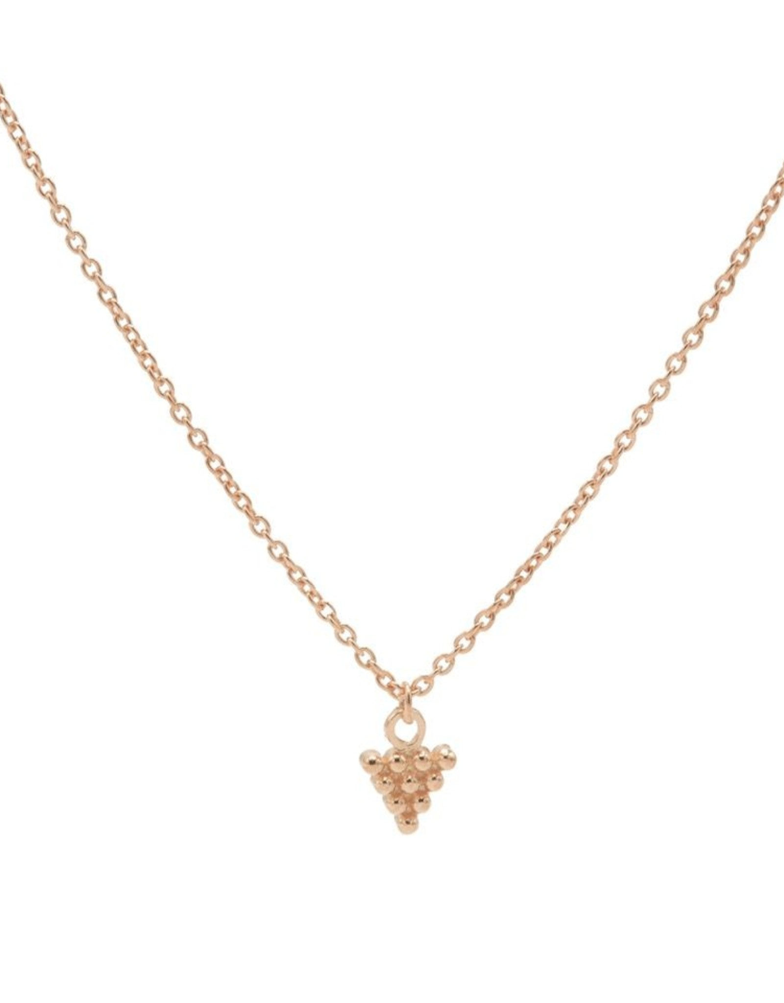 Karma Necklace 10 Dots Triangle Roseplated