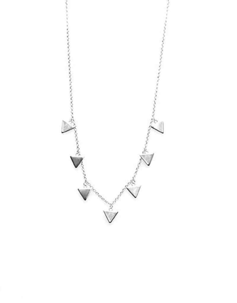 Karma Necklace 7 Triangles Silver