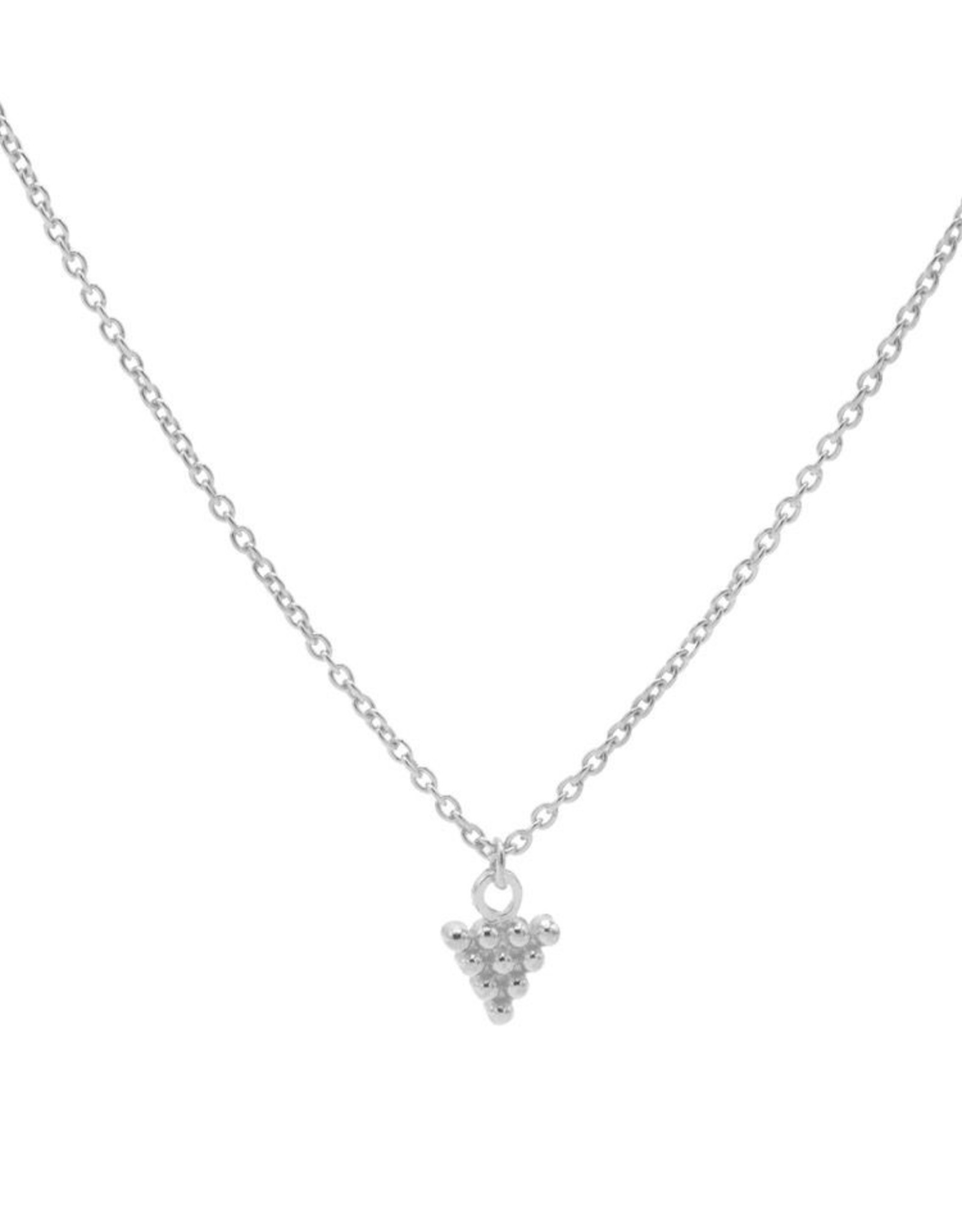 Karma Necklace 10 Dots Triangle Silver