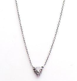 Karma Necklace Leopard Silver