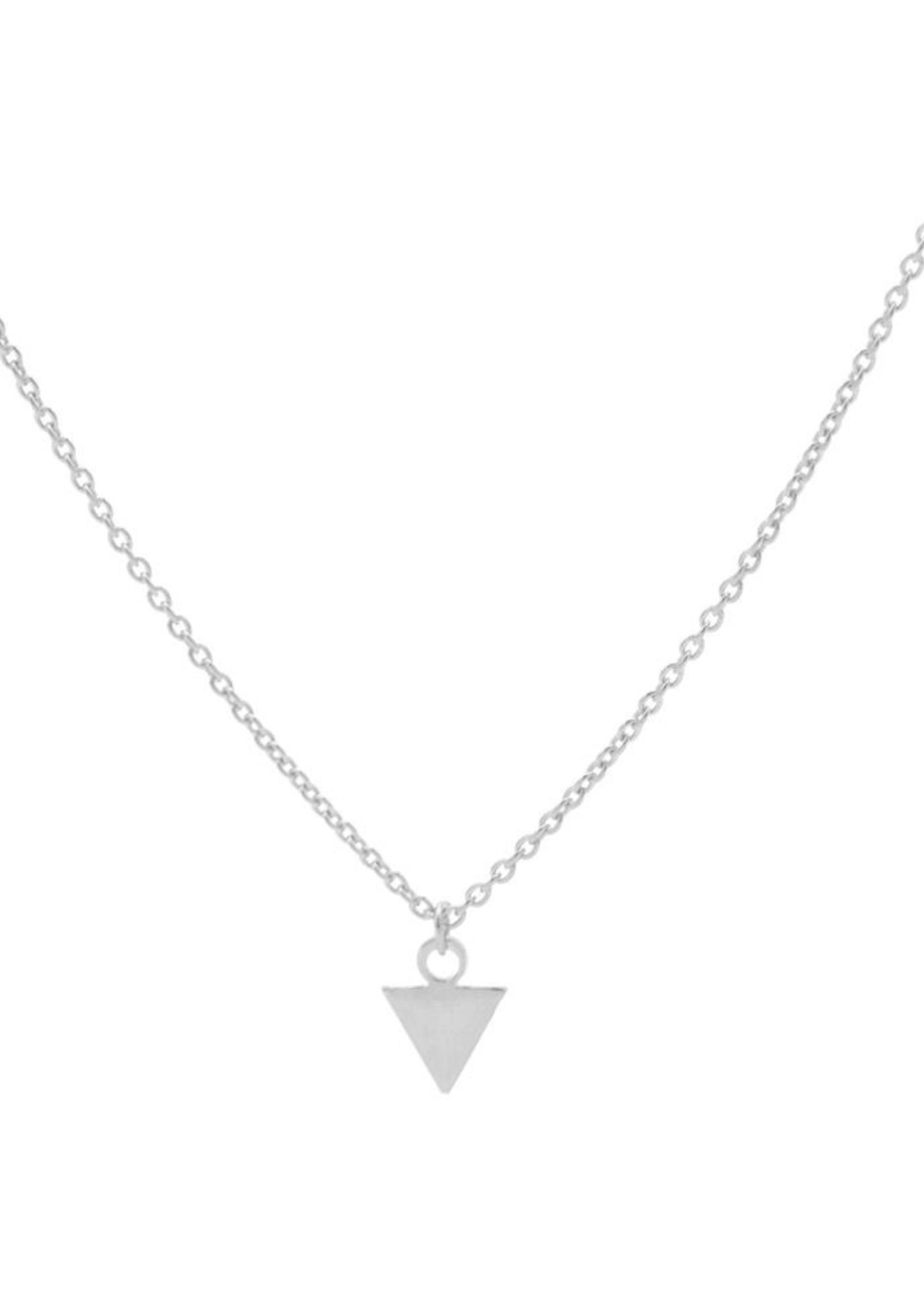 Karma Necklace Triangle Silver