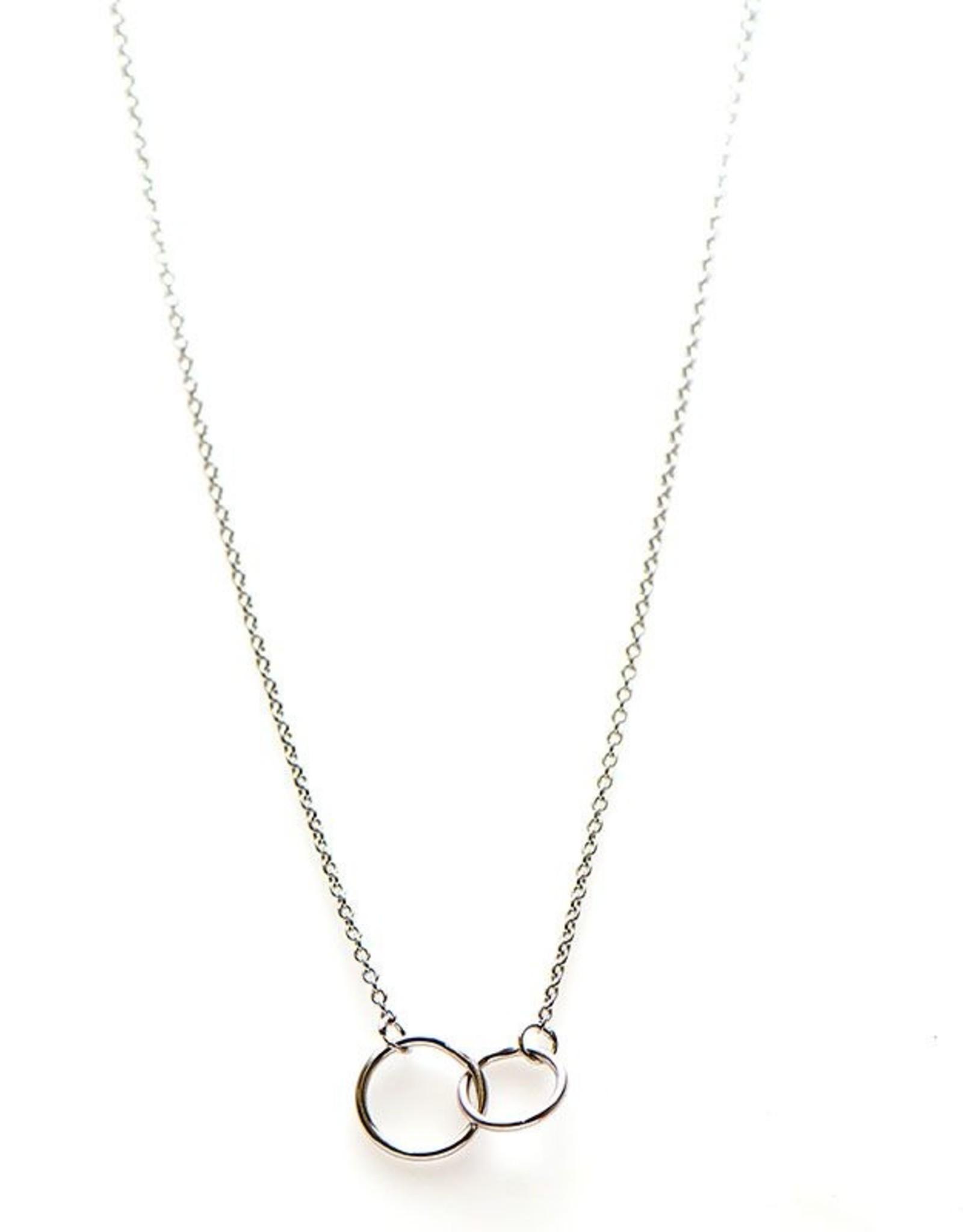 Karma Necklace Double Circle Silver