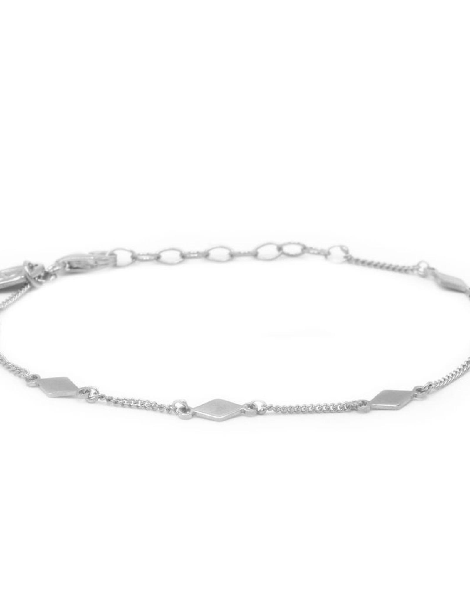 Karma Bracelet Diamond Shape Silver
