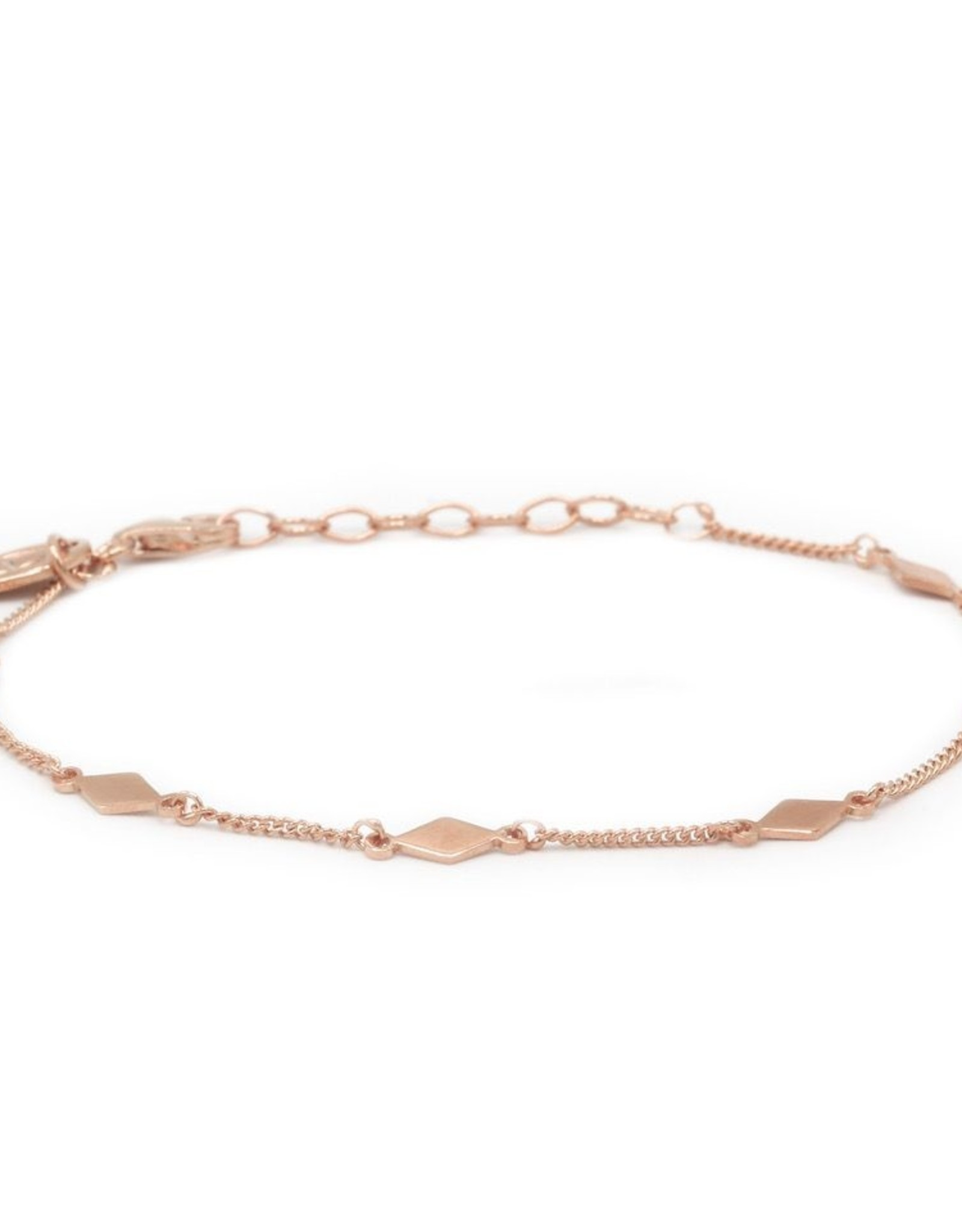 Karma Bracelet Diamond Shape Roseplated