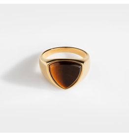 Northern Legacy Tigereye Polygon Signature - Gold ring