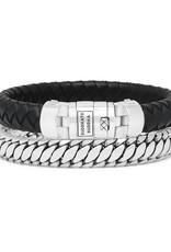 Buddha to Buddha 925 Sterling Zilveren 008bl E Ben Customized Set Silver & Leather Black 19cm