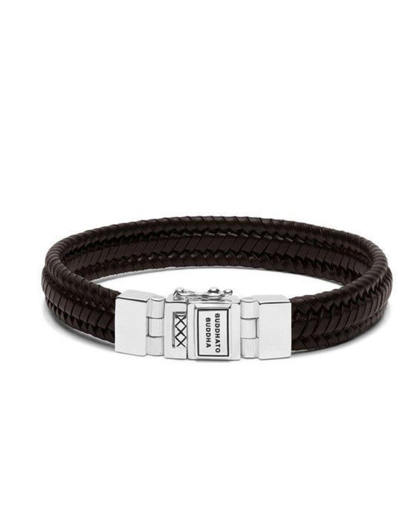 Buddha to Buddha Edwin Small Leather Bracelet Brown 21cm