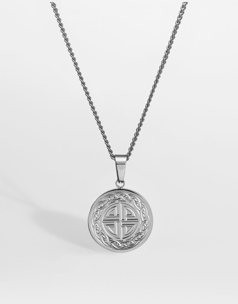 Northern Legacy nl knot pendant - silver tone