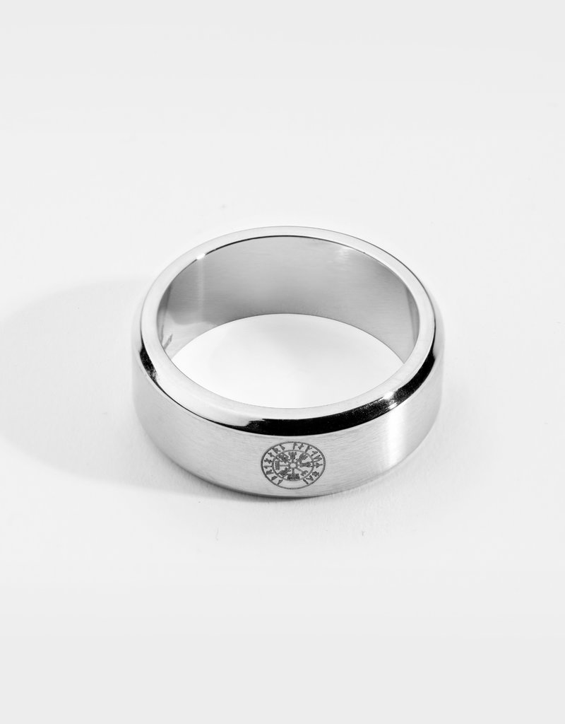Northern Legacy siempre vegvisir band - silver tone ring mt19