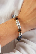 Buddha to Buddha 188MS E Spirit Bead Mix Sodalite Tigereye 19cm