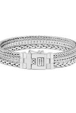 925 Sterling Zilveren J104 d - Triple Mini Bracelet Silver