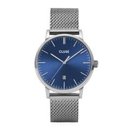 Cluse Aravis Mesh Blue, Silver Colour