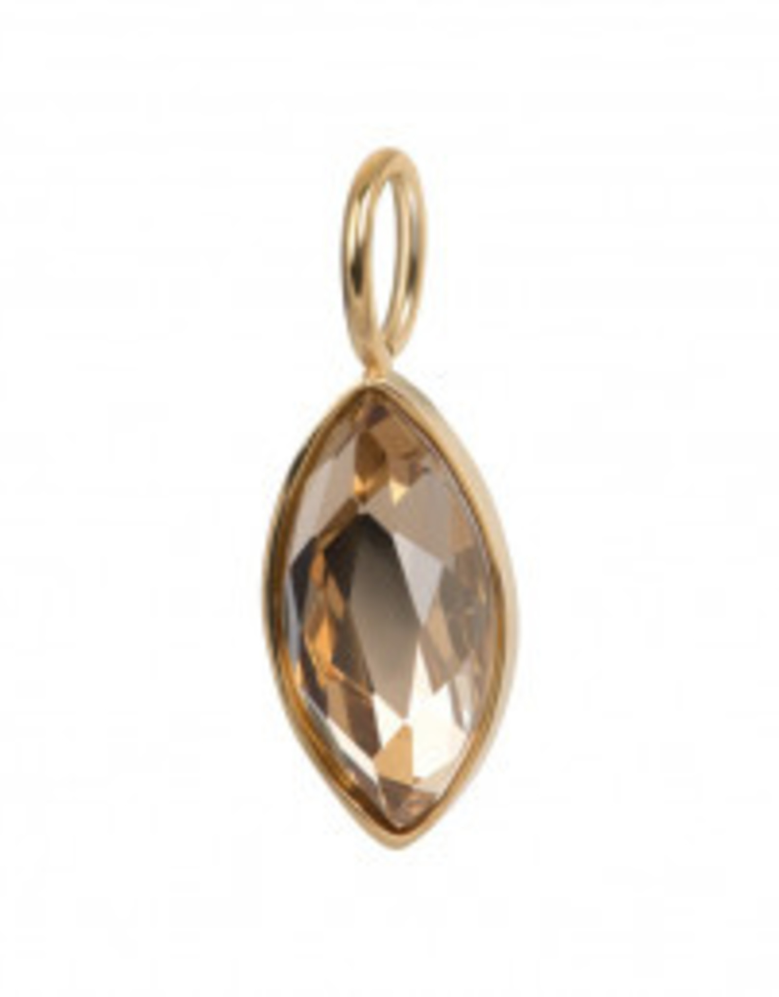 C4301999001 Gold Charm Royal Diamond Topaz