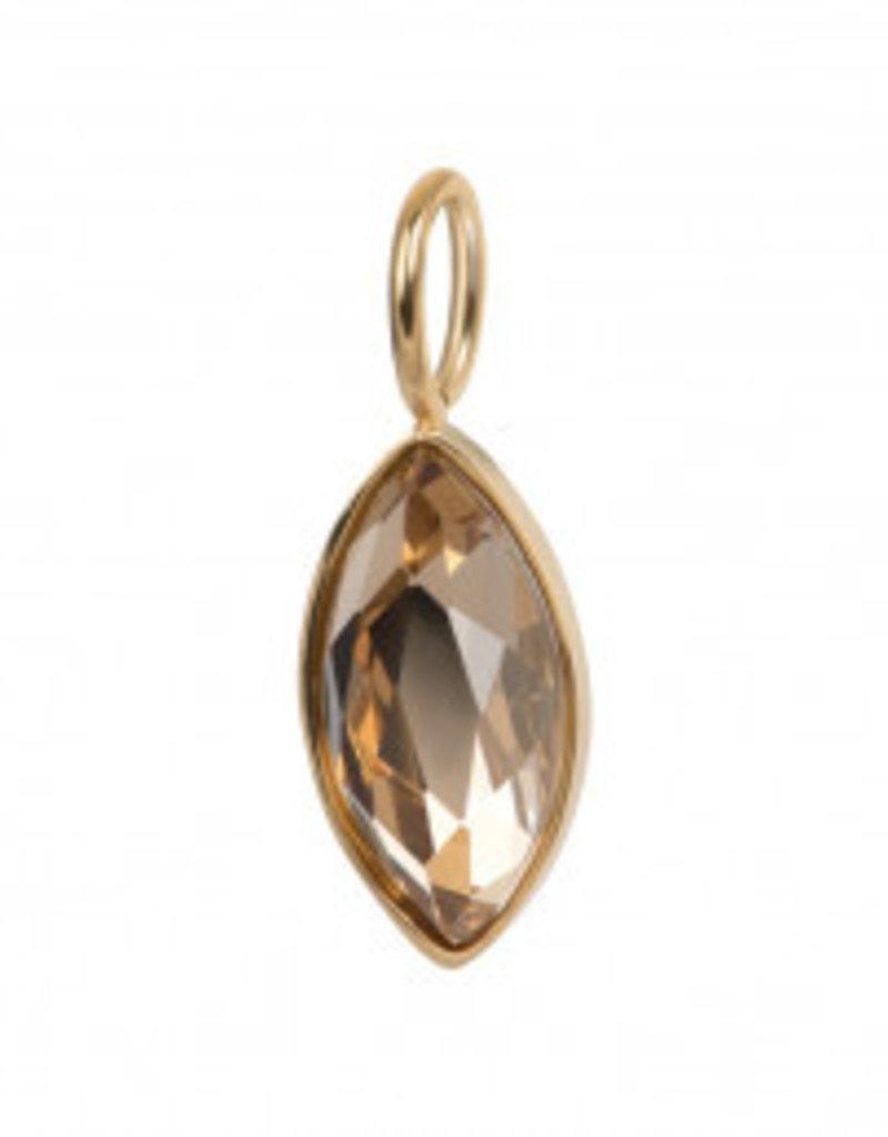 Ixxxi C4301999001 Gold Charm Royal Diamond Topaz