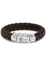Buddha to Buddha 925 sterling zilveren 127BR F - Mangky Leather Bracelet Brown