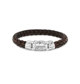 Buddha to Buddha 925 sterling zilveren 126BR F Mangky Small Leather Bracelet Brown 21cm