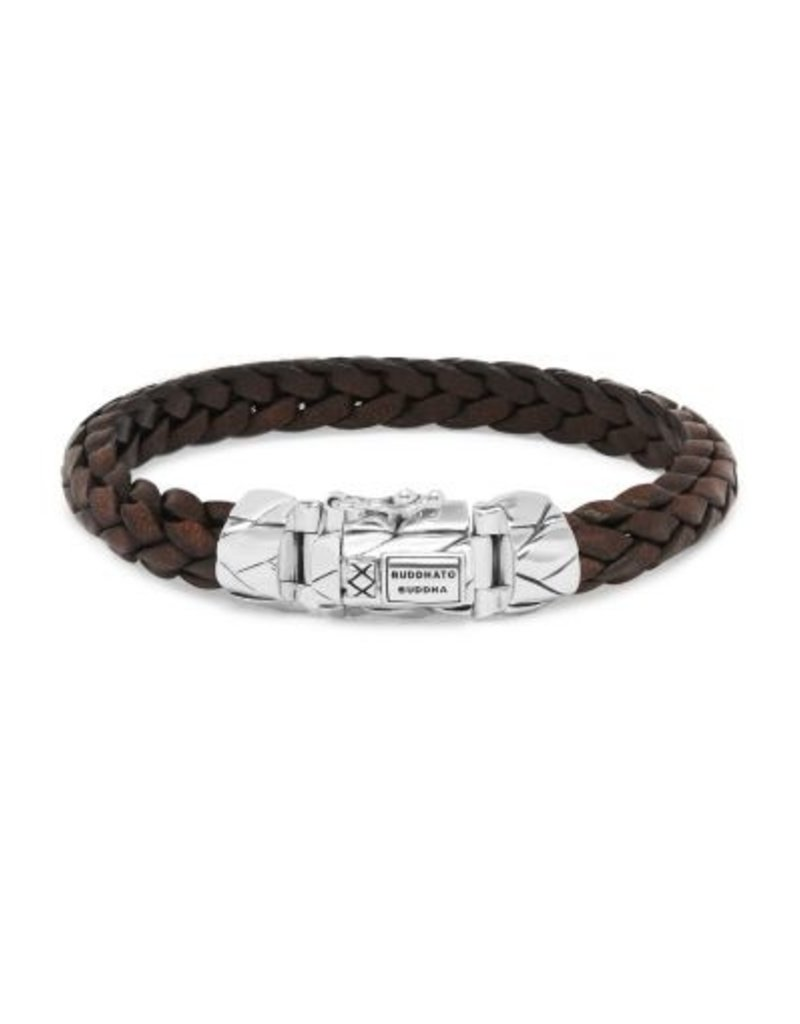 Buddha to Buddha 925 sterling zilveren 126BR F - Mangky Small Leather Bracelet Brown