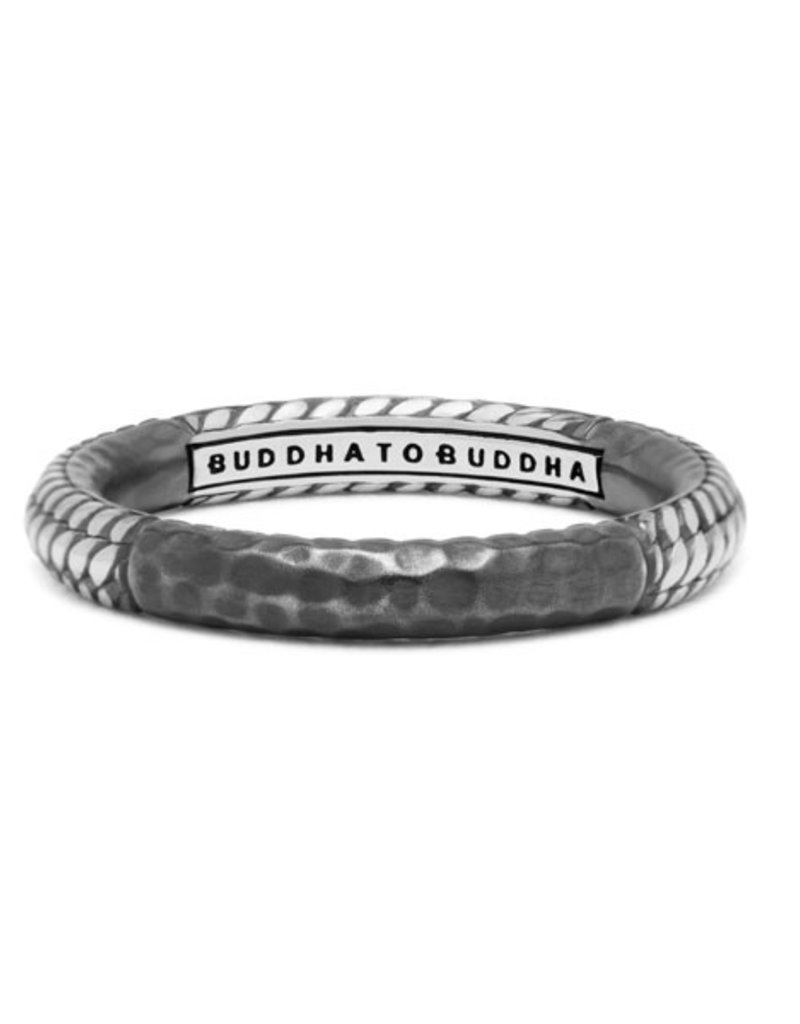 Buddha to Buddha 925 Sterling Zilveren 320 17 Dunia Ben Alternate Black Ring