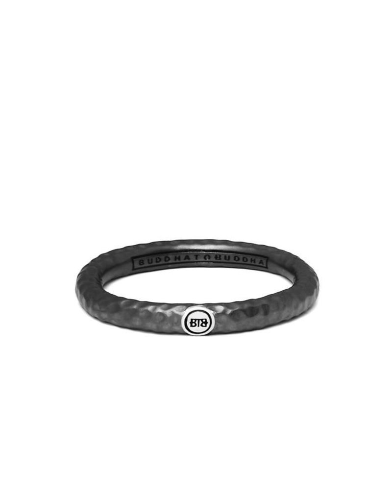 Buddha to Buddha 925 Sterling Zilveren 321 17 Dunia Hammered Black Ring
