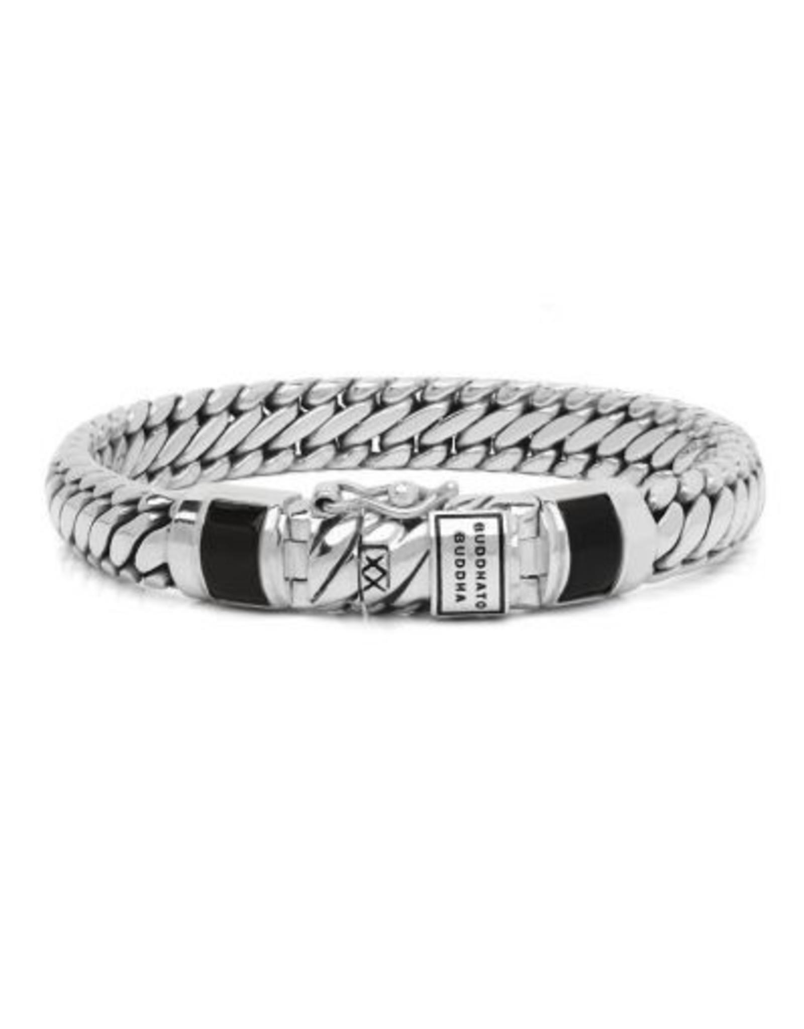 Buddha to Buddha 925 Sterling Zilveren J0707BL E Ben Xs Stone Black 19cm