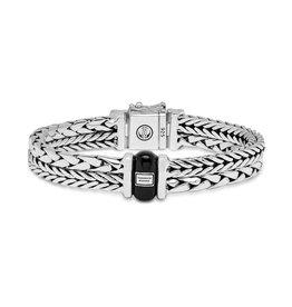 Buddha to Buddha 925 Sterling Zilveren 105 E - Barbara / George onyx Bracelet Silver