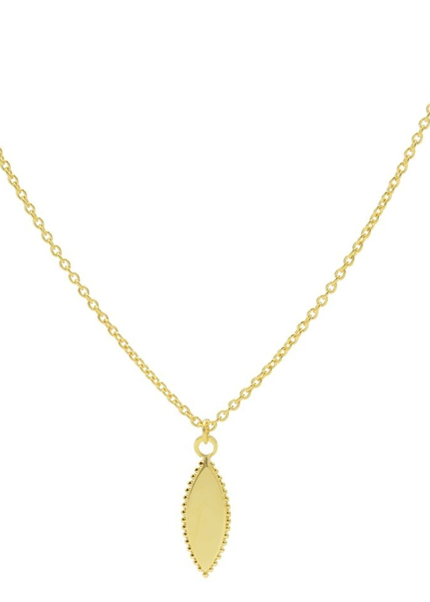 Karma Necklace Pointy Dots Oval Goldplated