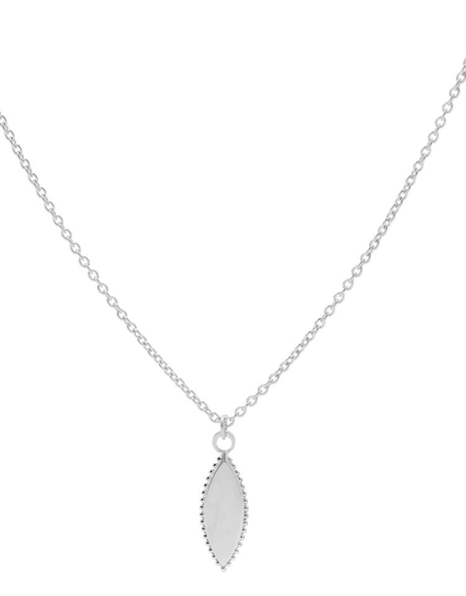 Karma Necklace Pointy Dots Oval Silver
