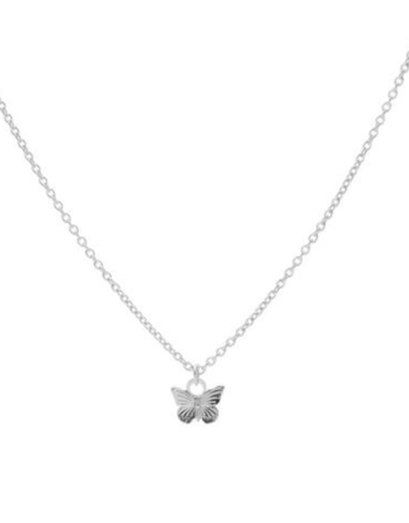 Karma Necklace Butterfly Silver